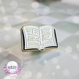 I Read Banned Books Enamel Pin Brooch Badge